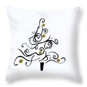 Swirled Tree Throw Pillow