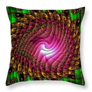 Swirledya-neonaya Catus 1 No. 1 H B Throw Pillow