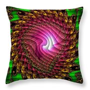Swirledya-neonaya Catus 1 No.1 V A Throw Pillow