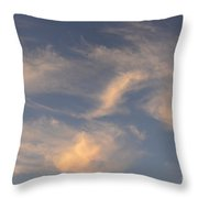 Swirling Clouds Throw Pillow