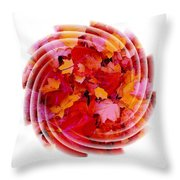 Swirling Colored Leaves Throw Pillow