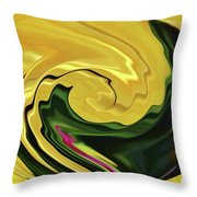 Swirling Colors Throw Pillow