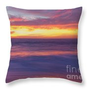 Swirling Ocean And Sky Throw Pillow