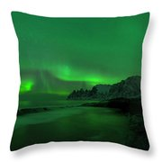 Swirling Skies And Seas Throw Pillow