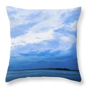 Swirling Sky Throw Pillow