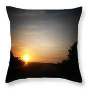 Swirling Sunrise Throw Pillow
