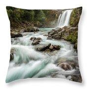 Swirling Waters - Tawhai Falls Throw Pillow