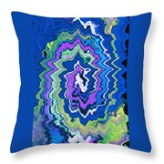 Swirling Wave Throw Pillow
