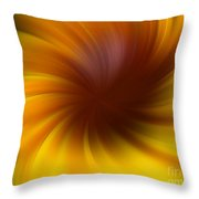 Swirling Yellow And Brown Throw Pillow