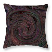 Swirlpool Neon Throw Pillow