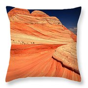 Swirls And Petrified Dunes Throw Pillow