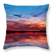 Swirls And Twirls At Twilight Throw Pillow