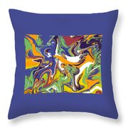 Swirls Drip Art Throw Pillow