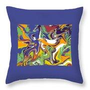 Swirls Drip Art Throw Pillow