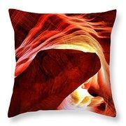 Swirls Of Fire Throw Pillow