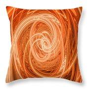 Swirls Of Orange Throw Pillow