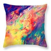 Swirls Of Paint IIi Throw Pillow