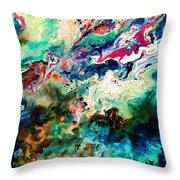 Swirls Of Paint Xii Throw Pillow