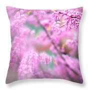 Swirls Of Spring Throw Pillow