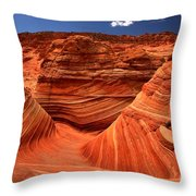 Swirls Waves And Buttes Throw Pillow