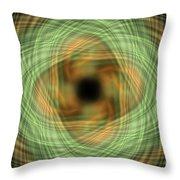 Swirly Plaid Throw Pillow