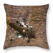 Swiss Aircraft Throw Pillow