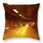 Swiss Alpine Tunnel Throw Pillow