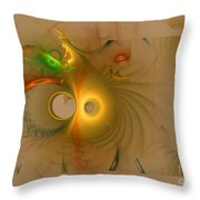 Swiss Cheese Look Throw Pillow