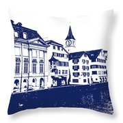 Swiss City Throw Pillow