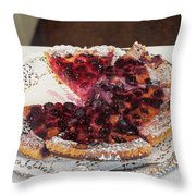 Swiss Custard Tart With Sour Cherries Throw Pillow