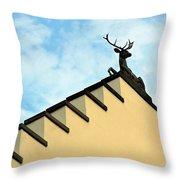 Swiss Deer On Zurich Rooftop Throw Pillow