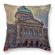 Swiss Federal Palace Throw Pillow