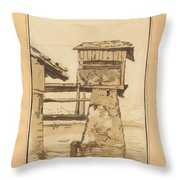 Swiss Peasant House Throw Pillow