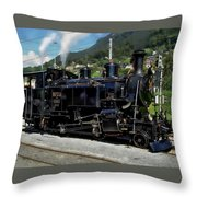 Swiss Steam Locomotive Throw Pillow