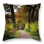 Swithland Woods, Leicestershire Throw Pillow