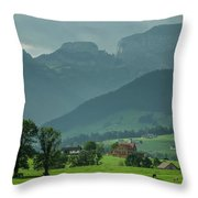 Switzerland Countryside Throw Pillow