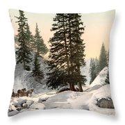 Switzerland: Davos, C1895 Throw Pillow