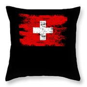Switzerland Gift Country Flag Patriotic Travel Shirt Europe Light Throw Pillow