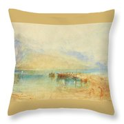 Switzerland  Possibly Lake Throw Pillow
