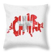 Switzerland Typographic Map Flag Throw Pillow