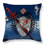 Sword And Shield Throw Pillow