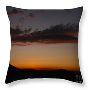 Pennsylvania Sunset In Haltzon Throw Pillow