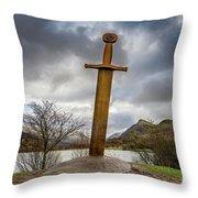 Sword Of Llanberis Snowdonia Throw Pillow