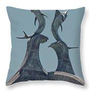 Swordfish Sculpture Throw Pillow