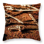 Swords And Knight Fights Throw Pillow