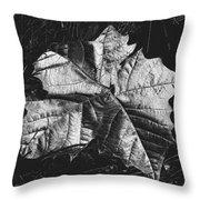 Sycamore Leaf Digital Throw Pillow