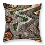Sycamore Tree Abstract # 9283 Throw Pillow