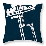 Syd Sydney Kingsford Smith Airport In Mascot Australia Runway Si Throw Pillow