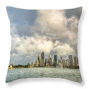 Sydney After A Rainstorm Throw Pillow