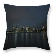 Sydney Downtown  With Opera House And Harbour Bridge At Night Throw Pillow